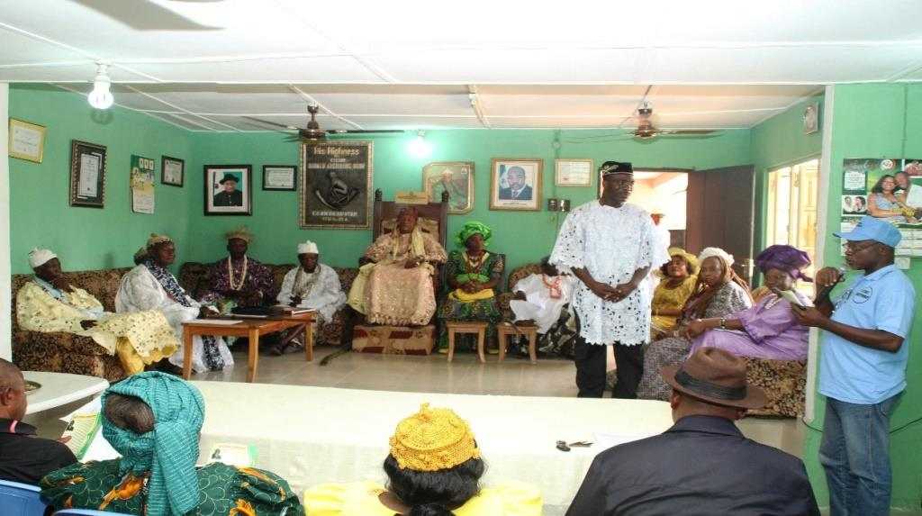 Dr. Mfon Archibong seeking community cooperation from Community leaders in Akwa Ibom state