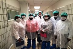 Dr. Mfon Archibong and the team inspecting a commercial poultry factory in Italy