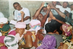 Dr. Mfon Archibong interacting with the women in Akwa Ibom state